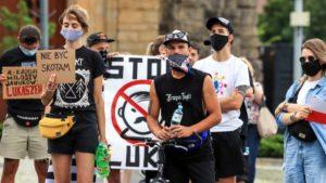 wolnosc dla bialorusi fot. s.wachala16 300x169 - Poznań: Demonstranci żądali wolności dla Białorusi