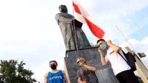 wolnosc dla bialorusi fot. s.wachala22 300x169 - Poznań: Demonstranci żądali wolności dla Białorusi