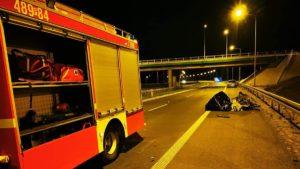 wypadek fot. osp ksrg smigie3 300x169 - Leszno: Tragiczny wypadek na S5 pod Śmiglem