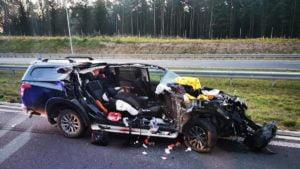 wypadek fot. osp ksrg smigiel 300x169 - Leszno: Tragiczny wypadek na S5 pod Śmiglem