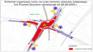 zmiana organizacji ruchu roosevelta fot. zdm 300x169 - Poznań: Zmiany w organizacji ruchu na Roosevelta i Pułaskiego