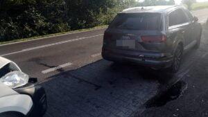 kolizja fot. policja3 300x169 - Międzychód: Kolizja w Luboszu. Utrudnienia w ruchu