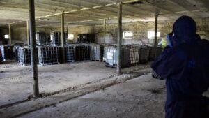 niebezpieczne odpady fot. policja Piła