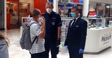 Kontrole maseczek fot. policja