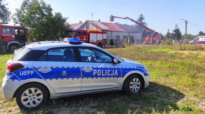 pożar Zadworna fot. policja