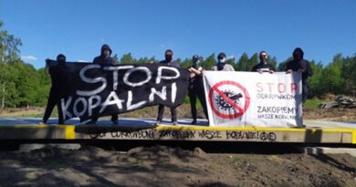 protest przeciwko kopalniom odkrywkowym fot. Zielona Fala
