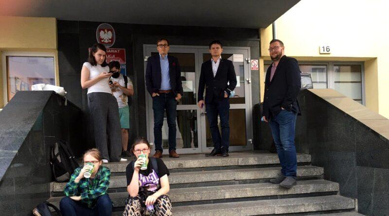 Razem - protest na Polnej fot. FB Razem