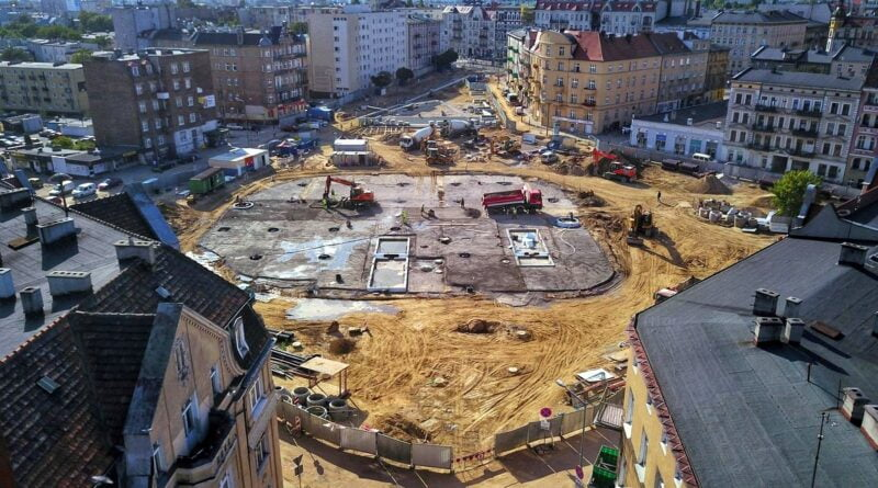 Rynek Łazarski budowa fot. UMP