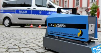 samochód policyjny do badania jakości spalin fot. UMP