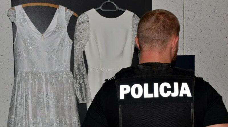 suknie ślubne kradzież fot. policja