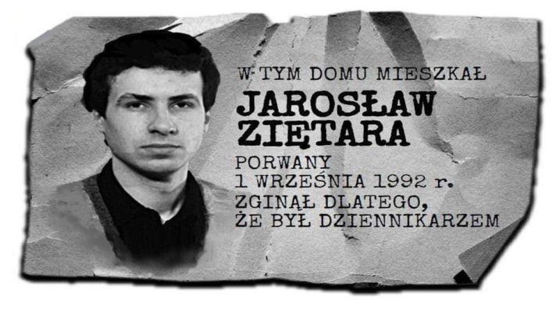 tablica pamięci Jarka Ziętary