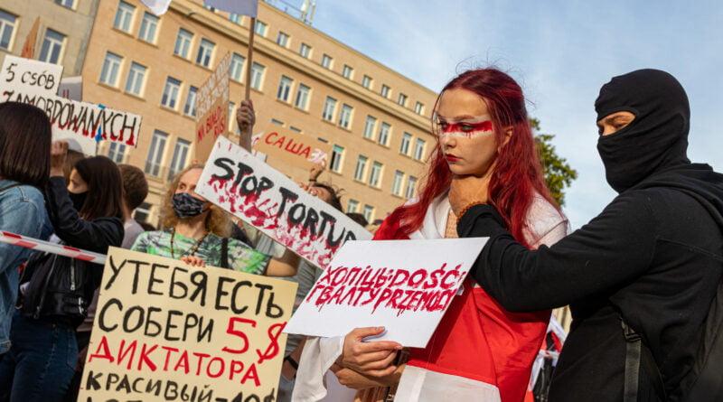 TAK dla wolności, NIE dla tortur Białoruś fot. Sławek Wąchała