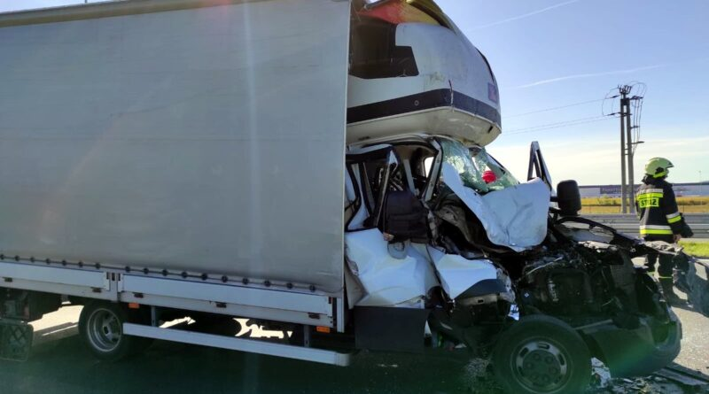 wypadek autostrada fot. policja
