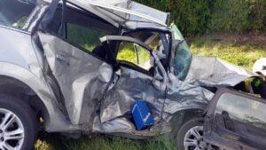 wypadek fot. osp sompolno 300x169 - Konin: Tragiczny wypadek w Sompolnie. Jedna osoba nie żyje