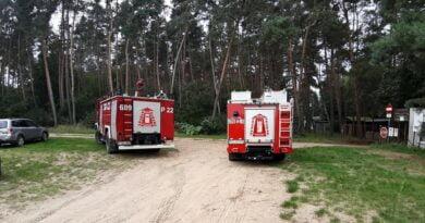 wypadek w jeziorze fot. OSP KSRG Dolsk