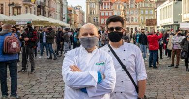 Gastronomia protest Poznań fot. Sławek Wąchała