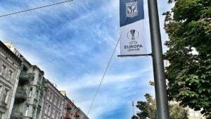 lech benfica fot. ump 300x169 - Poznań: Miasto przystrojone flagami Lech Poznań wraca do Ligi Europy!