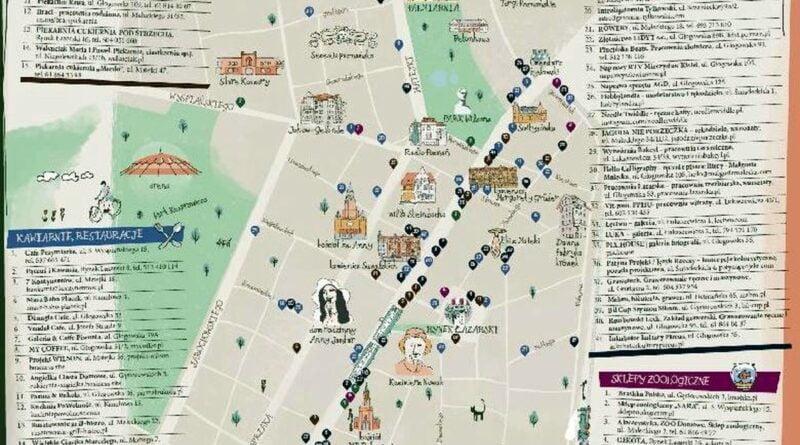 mapa Łazarza fot. UMP