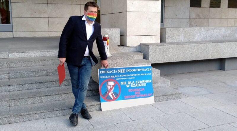 Marcin Staniewski, protest