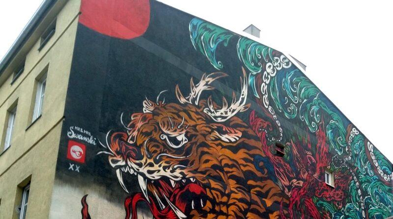 mural, tygrys, Kraszewskiego