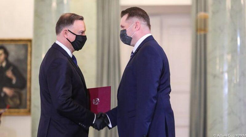 nominacja Przemysława Czarnka na ministra edukacji i nauki fot. Kancelaria Premiera
