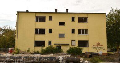 ostatni wyburzony budynek Naramowice fot. PIM