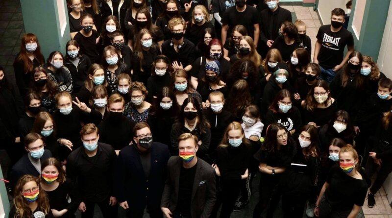 Poznań czarny protest fot. Młodzi Nowocześni