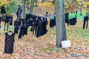 wyroknakobiety wieszamy czarne pranie fot. slawek wachala 0102 300x200 - Poznań: W ramach Strajku Kobiet na Cytadeli zawisło... pranie