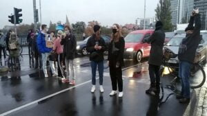 Blokada ulic Strajk Kobiet fot. K. Adamska