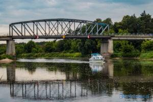 Budowa mostu w Rogalinku nad Wartą archiwum 2018 stary most fot. Sławek Wąchała