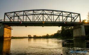 Budowa mostu w Rogalinku nad Wartą archiwum 2014 stary most fot. Sławek Wąchała