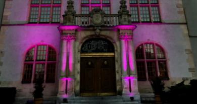 Collegium Minus na fioletowo fot. P. Stanula UAM