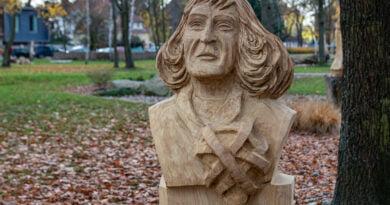 Park im. Jana Heweliusza rzeźby Krzysztofa Wizy fot. Sławek Wąchała