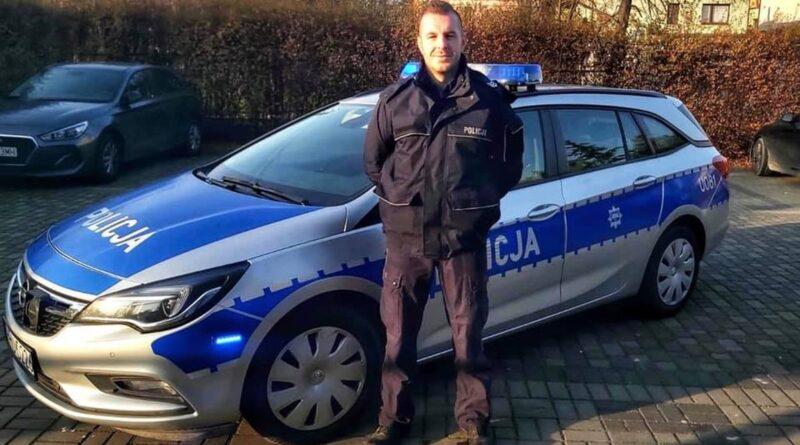 sierż Piotr Szulc fot. policja Poznań