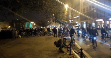 Strajk Kobiet, przejazd rowerzystów