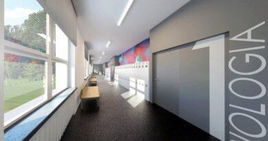 wizualizacja wyglądu korytarza po remoncie fot. 38.LO
