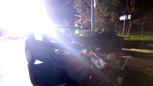 wypadek fot. policja szamotuly 2 300x169 - Szamotuły: Wypadek w Pęckowie. Jedna osoba ranna