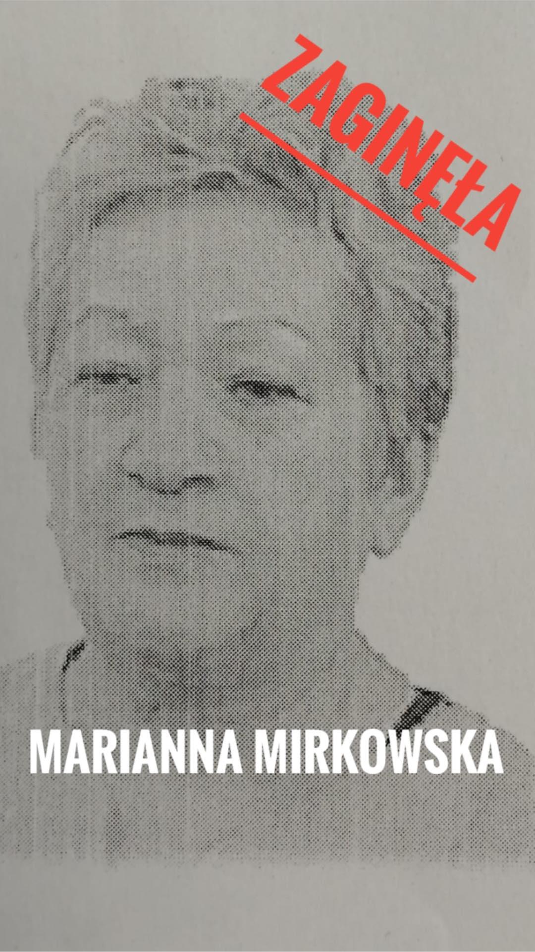 zaginiona fot. policja - Poznań: Zaginęła Marianna Mirkowska. Czy ktoś ją widział?