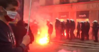 zamieszki w Warszawie fot. policja prt scr