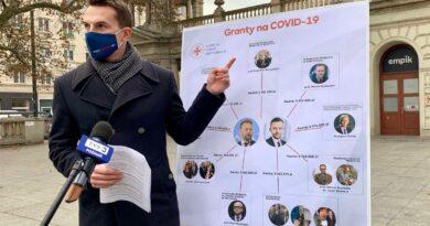 Adam Szłapka i granty na covid-19 fot. mat. pras.