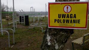 Ostrzeżenie przed polowaniem fot. Ruch Antyłowiecki Wielkopolska