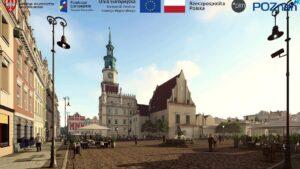 wizualizacja starego rynku po przebudowie fot. pim3 300x169 - Poznań: Ruszył przetarg na remont płyty Starego Rynku