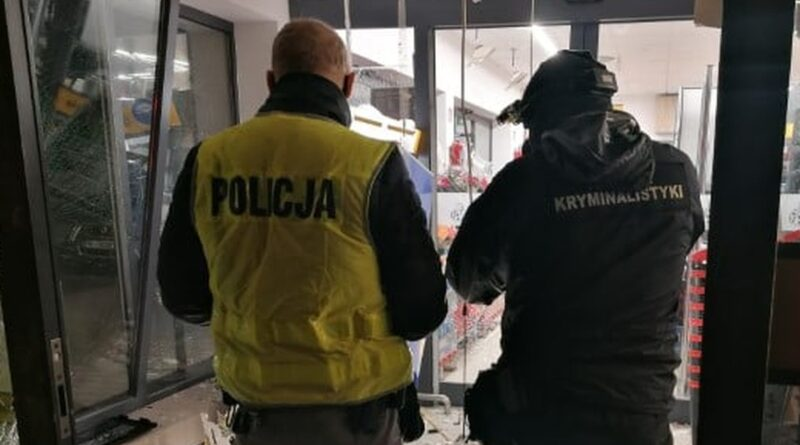 wysadzony bankomat fot. policja