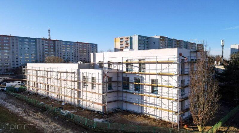 Budowa sali gimnastycznej przy SP nr 68 fot. PIM