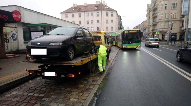 odholowany samochód fot. SMMP