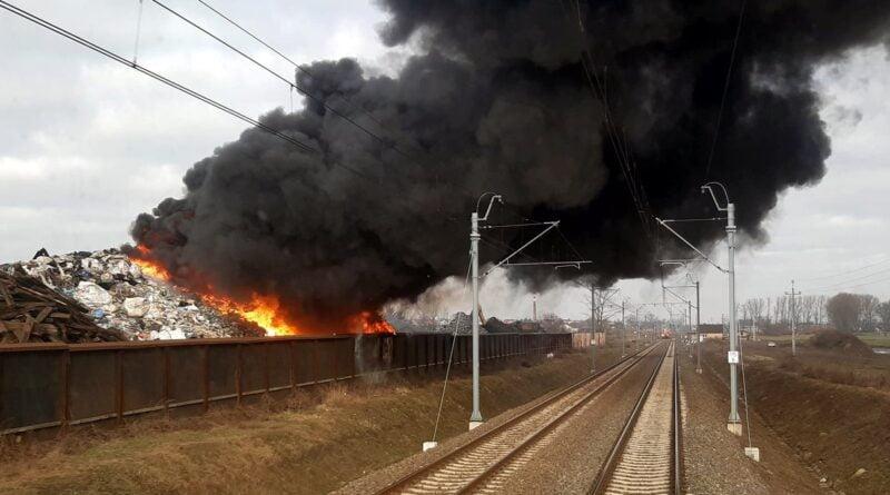 Przysieka Polska, pożar 27 stycznia fot. Poznań-Leszno