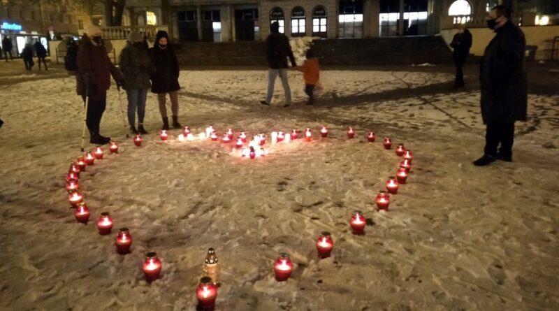 Serce dla prezydenta Adamowicza