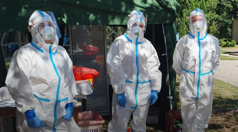 testy na koronawirusa w DPD Kochłowy fot. SP w Ostrzeszowie
