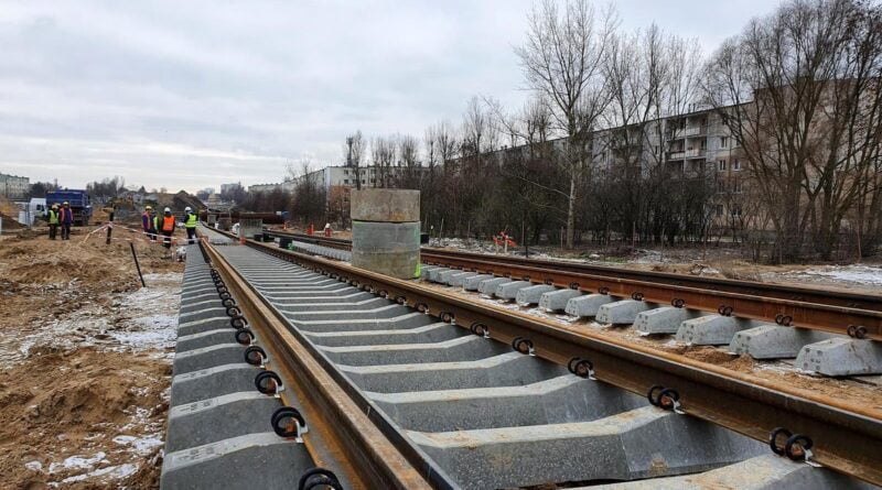 Trasa tramwaju na Naramowice - torowisko fot. UMP