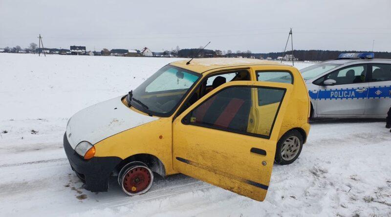 zatrzymany samochód fot. policja Kościan